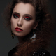 Portrait of a woman with high hair and red lips. - PhotoDune Item for Sale
