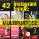 42 PSD Instagram Bundle - GraphicRiver Item for Sale