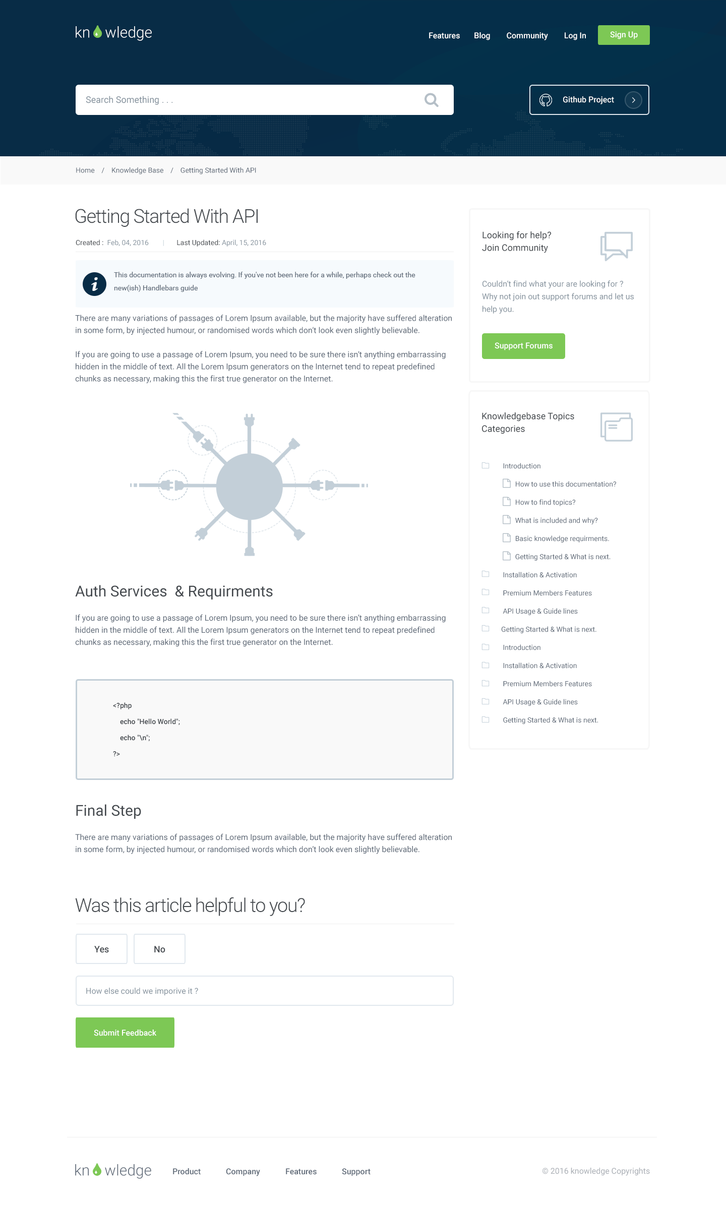 Knowledge - Knowledgebase & Documentation Template by xvelopers ...
