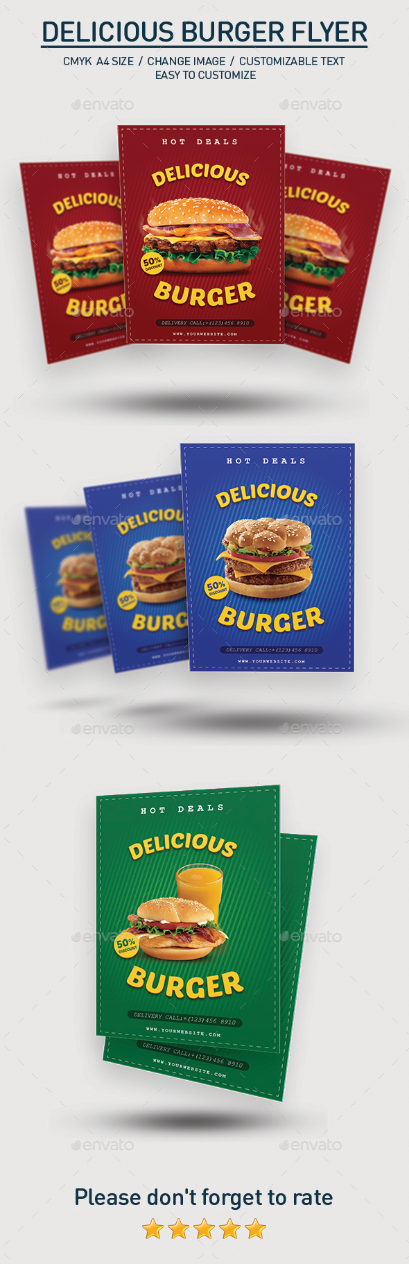 Delicious Burger Flyer - Restaurant Flyers
