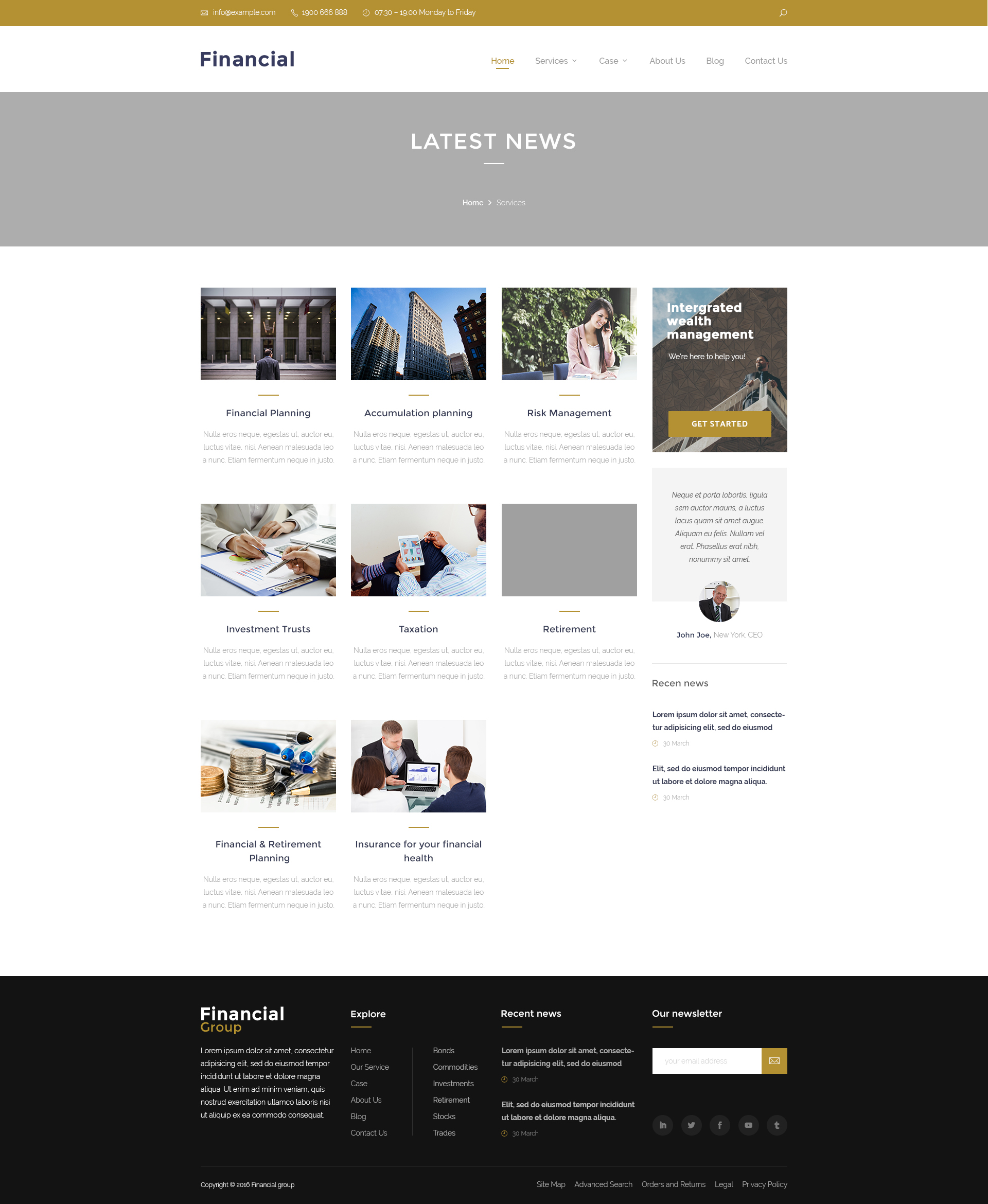 Clean Business Website Template Psd: Clean Business PSD Templates By ThemeHipster