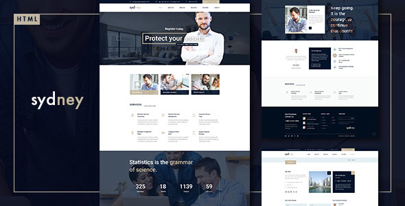 Sydney – Multiuse Financial Business HTML5 & CSS3 Template