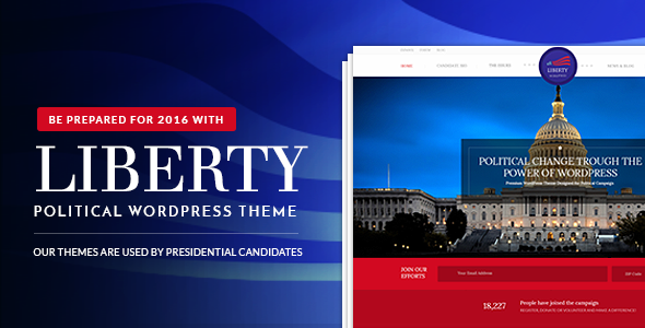 Liberty – Your Political WordPress Theme
