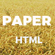 Paper - Creative Multipurpose HTML Template - ThemeForest Item for Sale