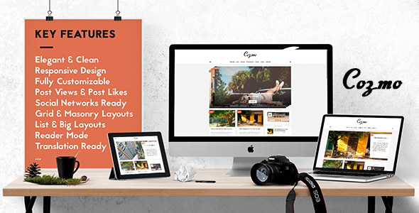 Cozmo - Clean & Simple WordPress Blog Theme