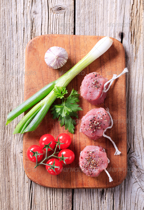 Raw pork filet mignons - Stock Photo - Images