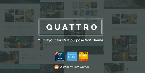 Quattro - Multilayout for Multipurpose WP Theme - Business Corporate