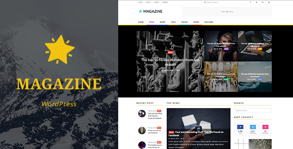 Magazine - News, Magazine WordPress Theme