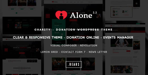 Alone – Charity Multipurpose Non-profit WordPress Theme