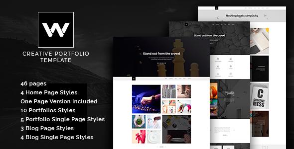 W Studio – Portfolio Parallax Joomla Template