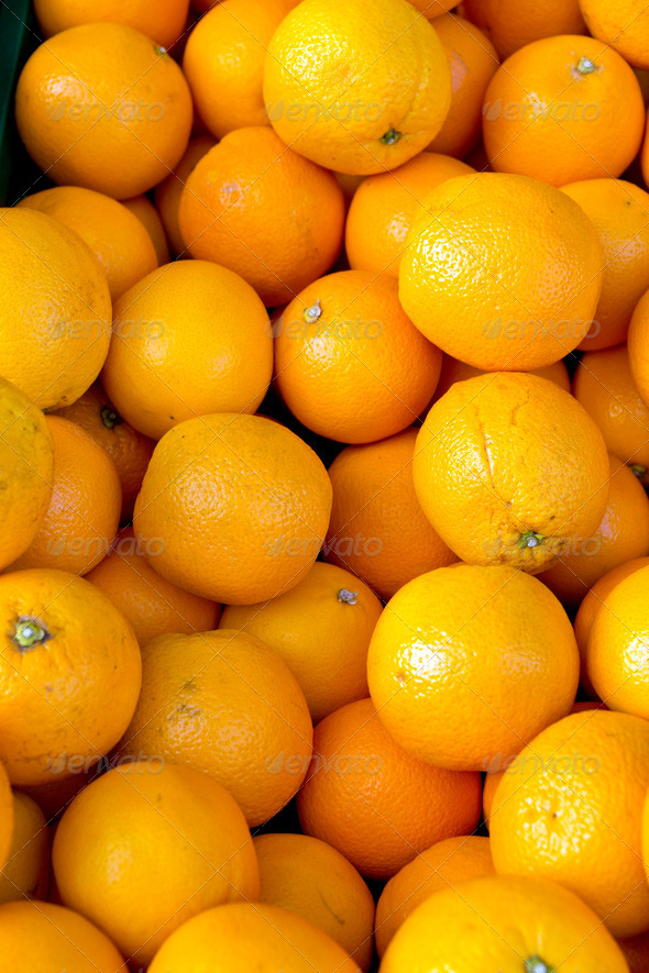 Fresh clementines on a market - Stock Photo - Images