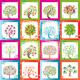 Huge set of original vector trees with frames - GraphicRiver Item for Sale