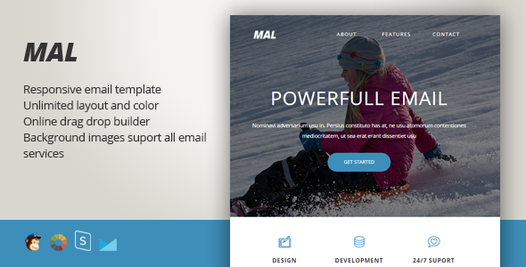 Malorum – Responsive Email + StampReady Builder