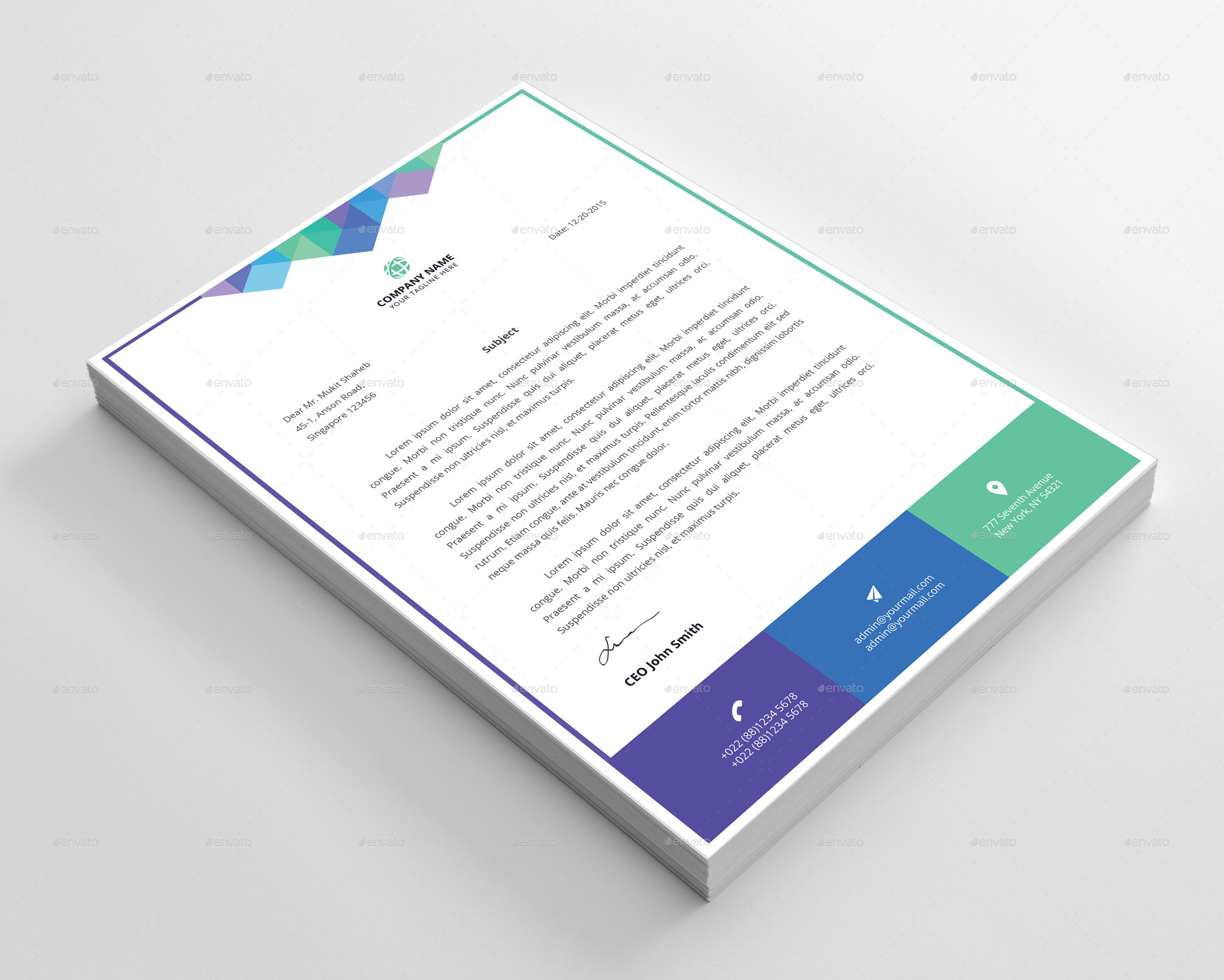 Colorful letterhead template by faysalahmed graphicriver colorful letterhead template stationery print templates 01previewg spiritdancerdesigns Gallery