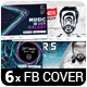 6 Music Event Facebook Timeline Covers vol.5 - GraphicRiver Item for Sale