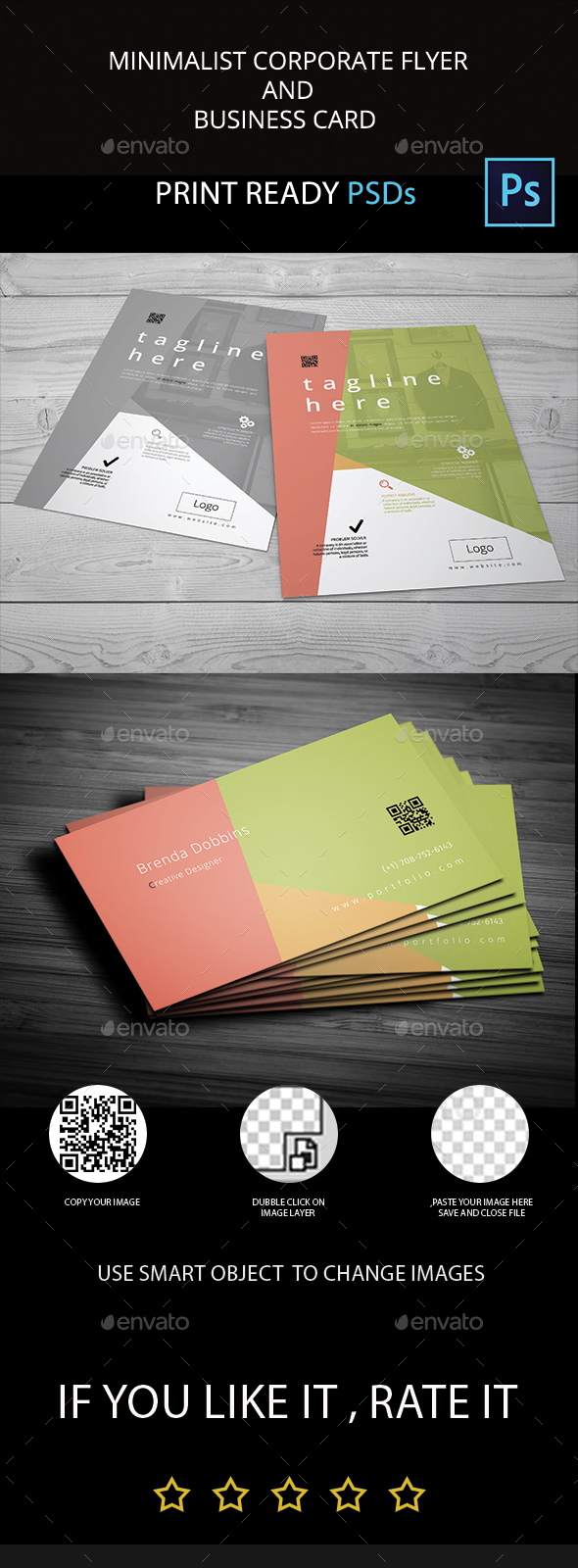 Minimalist Flyer and Business Card - Miscellaneous Print Templates