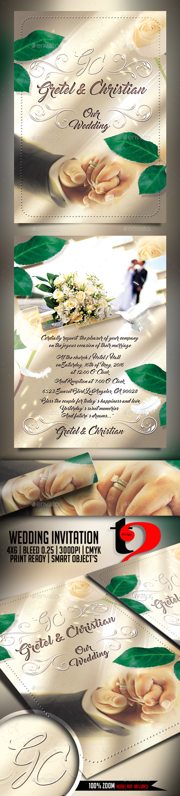 The Wedding Invitation Flyer - Template
