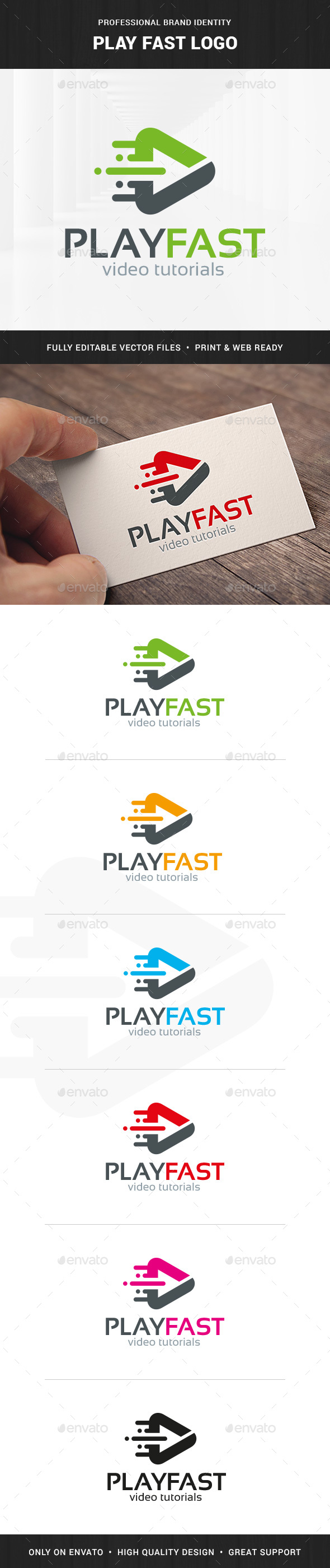 Fast Play Logo Template - Symbols Logo Templates