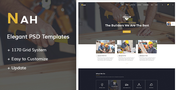 Nah – Construction PSD Templates