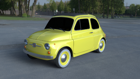 Fiat 500D Nuova 1960 HDRI - 3DOcean Item for Sale