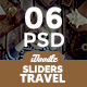 Travel Agency Sliders - 06 PSD - GraphicRiver Item for Sale