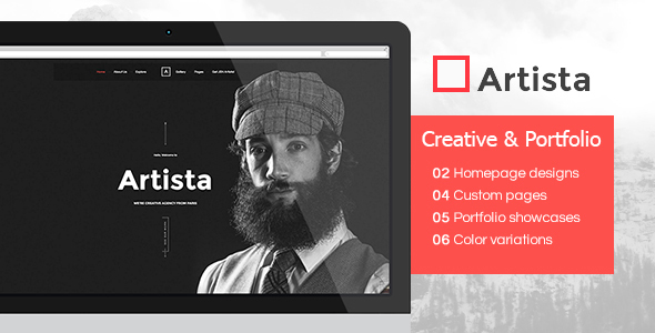 Artista – Responsive Multi-Purpose Creative & Portfolio WordPress Theme