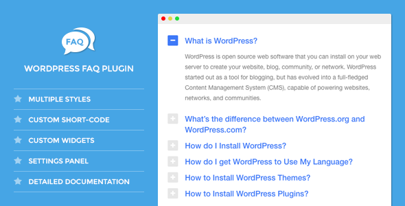DW FAQ - WordPress Plugin - CodeCanyon Item for Sale