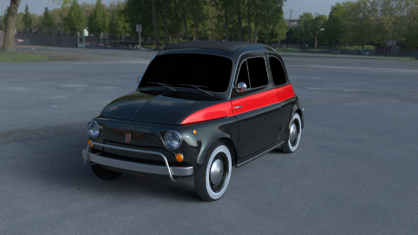 Fiat 500 Nuova Sport 1958 HDRI - 3DOcean Item for Sale