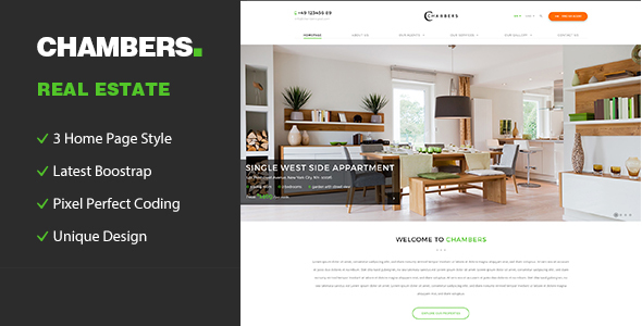 Chambers - Responsive HTML5 Template for Property Developers - Business Corporate