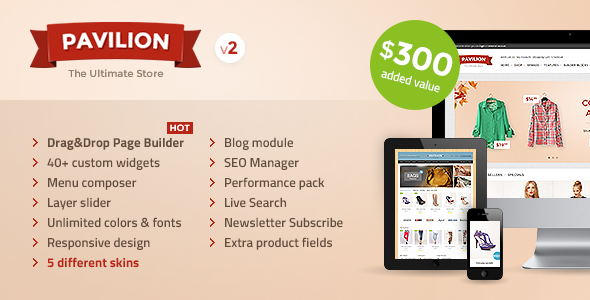 Pavilion - Responsive OpenCart Theme - OpenCart eCommerce