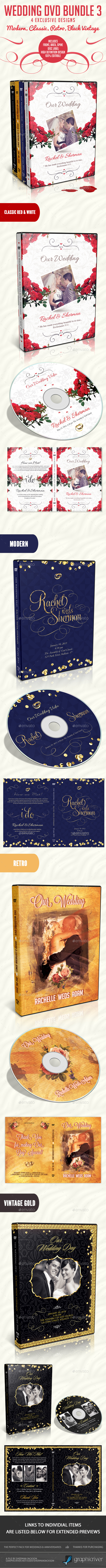 Wedding DVD Bundle 3 - CD & DVD Artwork Print Templates