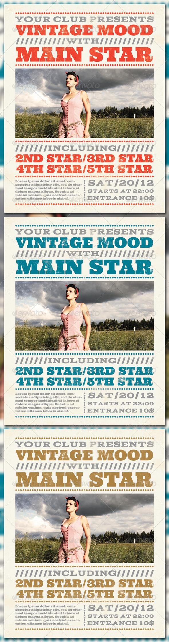 Vintage Mood Poster - Clubs & Parties Events
