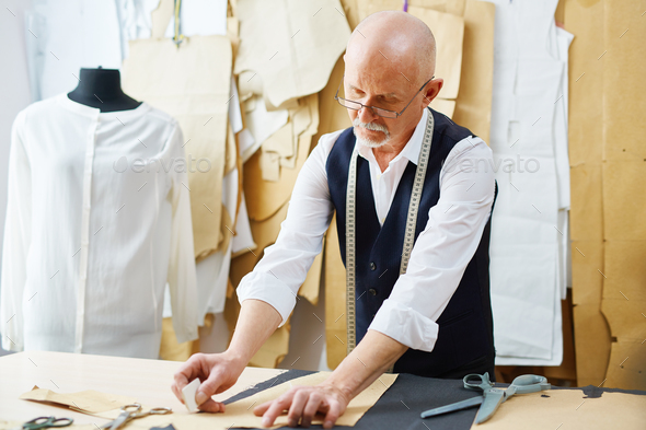 Working in tailoring-shop - Stock Photo - Images