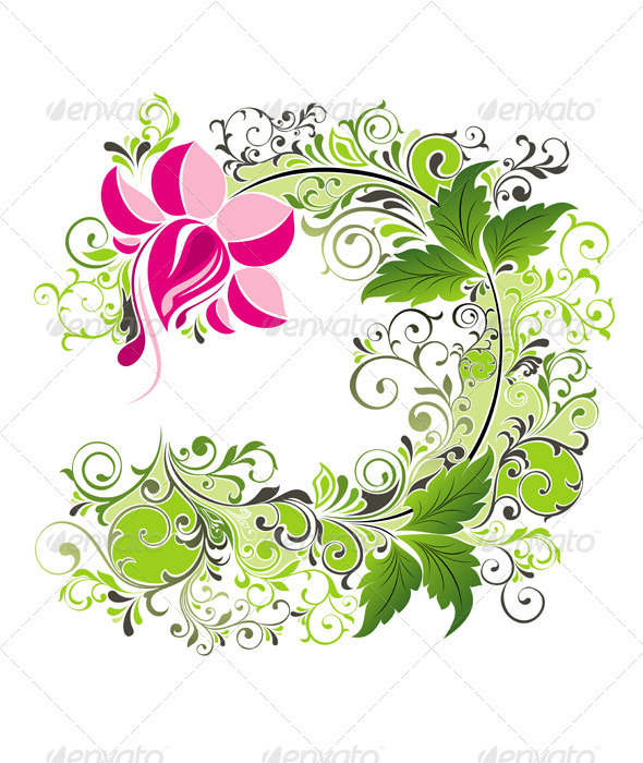 Vector spring background with floral - Decorative Vectors