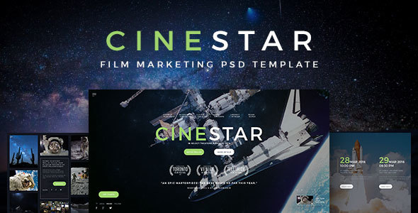CINESTAR – Film Marketing PSD Template
