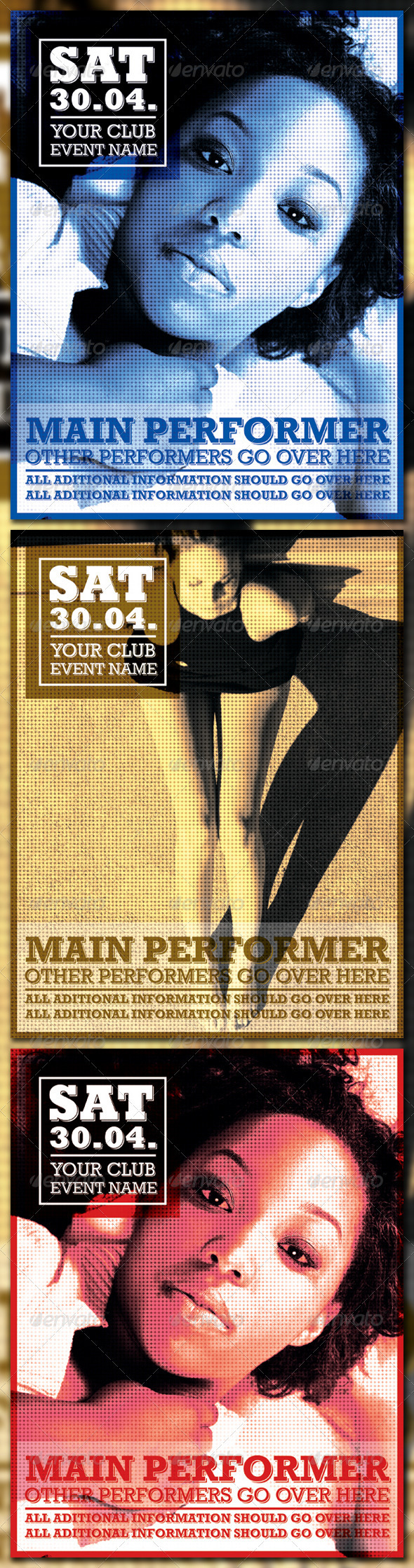 Retro Poster - Clubs & Parties Events