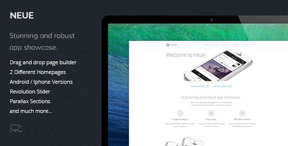 Neue – App Landing Page WordPress Theme