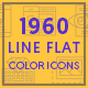 1960 Modern Flat Line Color Icons - GraphicRiver Item for Sale