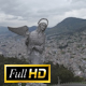 Aerial shots of Madonna statue, El Panecillo in Quito Ecuador 50p FullHD - VideoHive Item for Sale