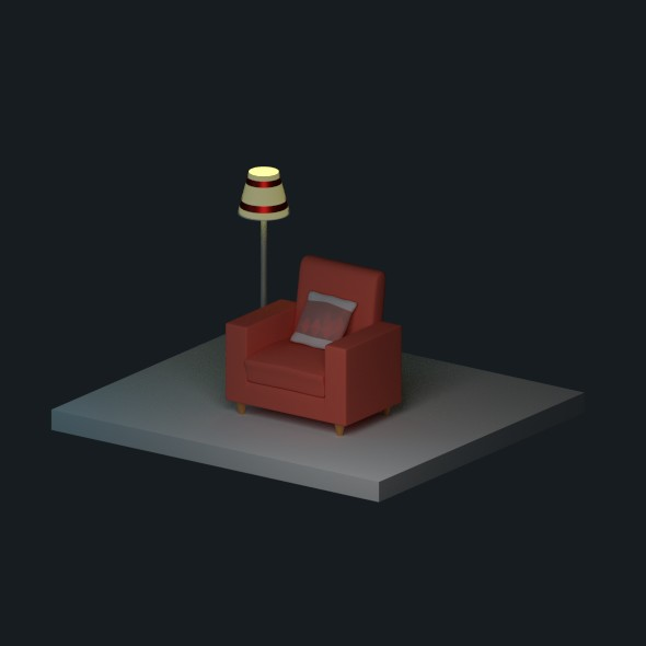 Low Poly Chair - 3DOcean Item for Sale