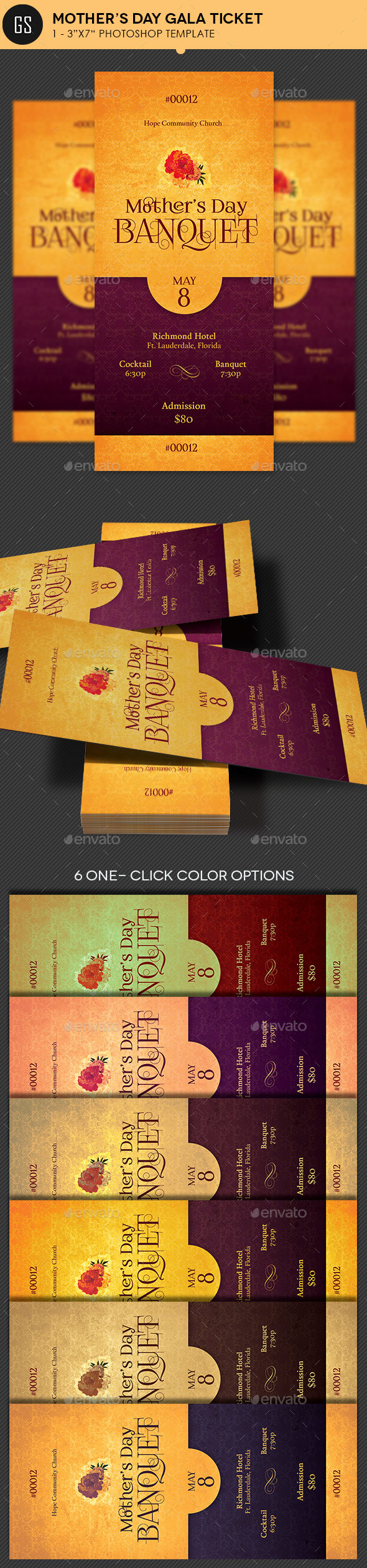 elegant and ticket random print templates from graphicriver