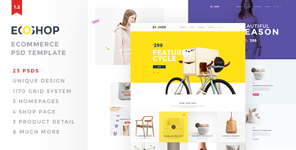ECOSHOP – Multipurpose eCommerce PSD Template