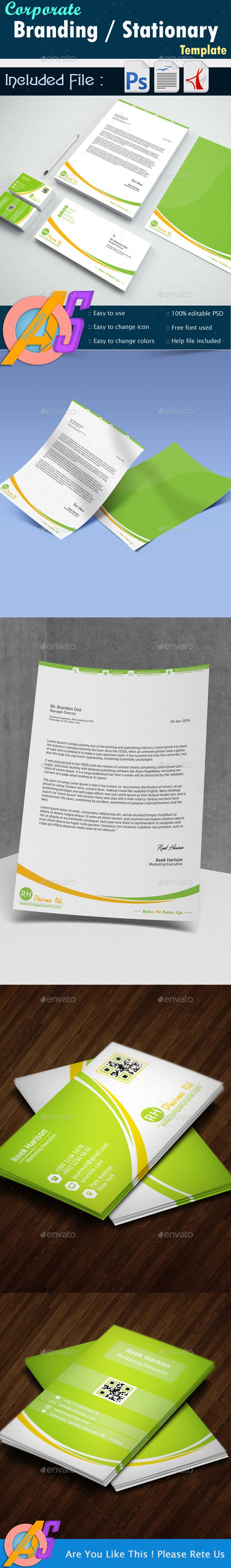 Corporate Branding Identity Templates - Corporate Business Cards