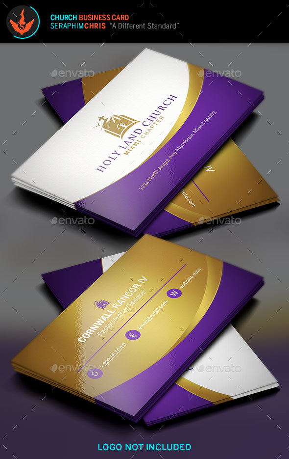 Royal Church Business Card Template by SeraphimChris | GraphicRiver