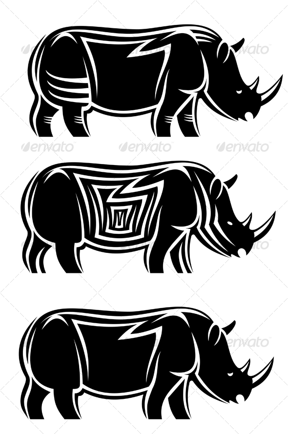 Wild rhinoceros - Animals Characters