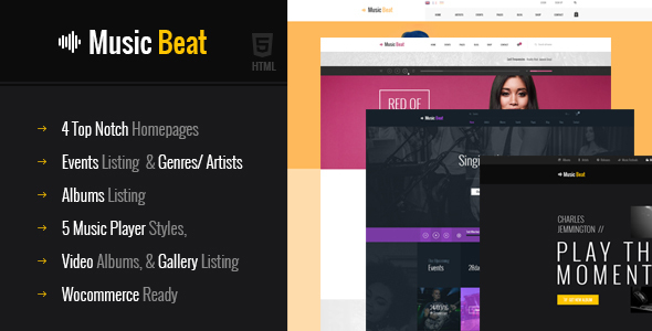 MusicBeat Music Band Html Template