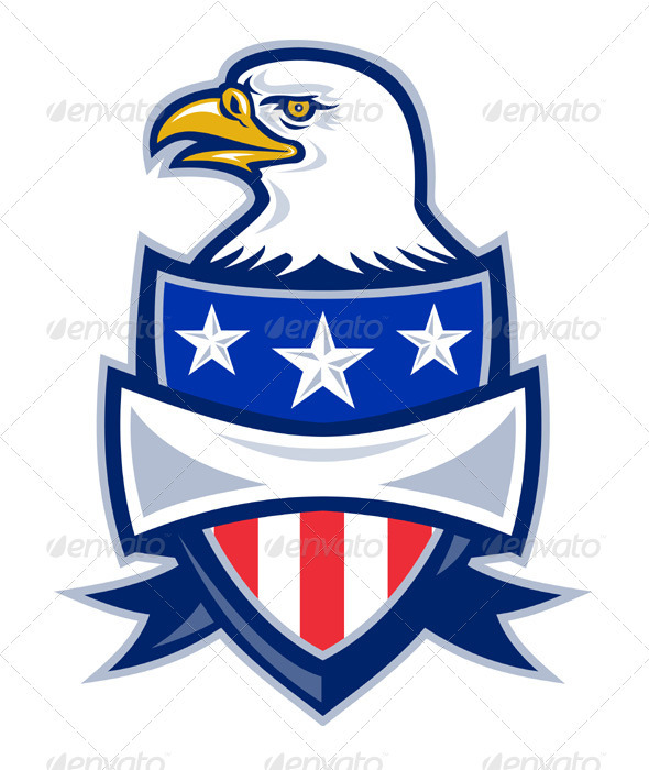 American Bald Eagle With Shield - People Characters