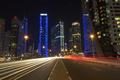Night city skyline in Marina district, Dubai - PhotoDune Item for Sale