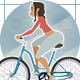 Girl On A Bicycle / Cycling Animation And Automatic Lip Sync - VideoHive Item for Sale