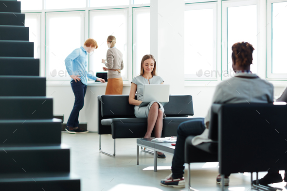 Employees in office - Stock Photo - Images